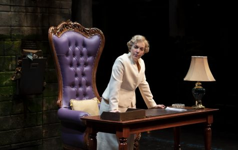 Chicago's first female mayor, Jane Byrne, played by Christine Mary Dunford, is immortalized on the stage in