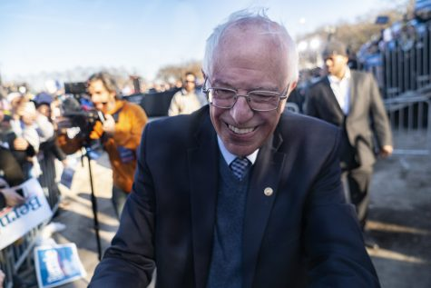 Sen. Bernie Sanders is currently the runner-up in the Democratic presidential primary with 573 delegates, as of press time, behind former Vice President Joe Biden