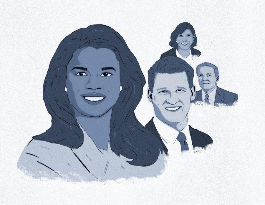 (From left) Kim Foxx, Bill Conway, Bob Fioretti and Donna More.