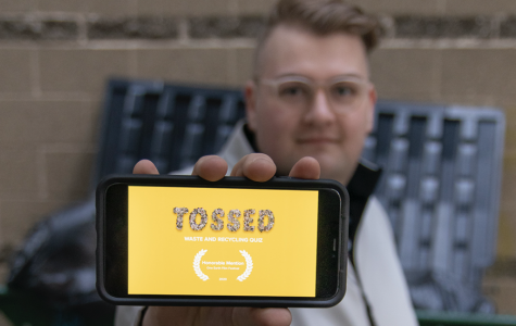 Student's interactive video challenges waste disposal notions