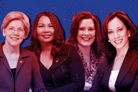 (From left) Sen. Elizabeth Warren (D-Mass.), Sen. Tammy Duckworth (D-Ill.), Michigan Gov. Gretchen Whitmer and Sen. Kamala Harris (D-Calif.) have all been floated as potential running mates for Joe Biden.