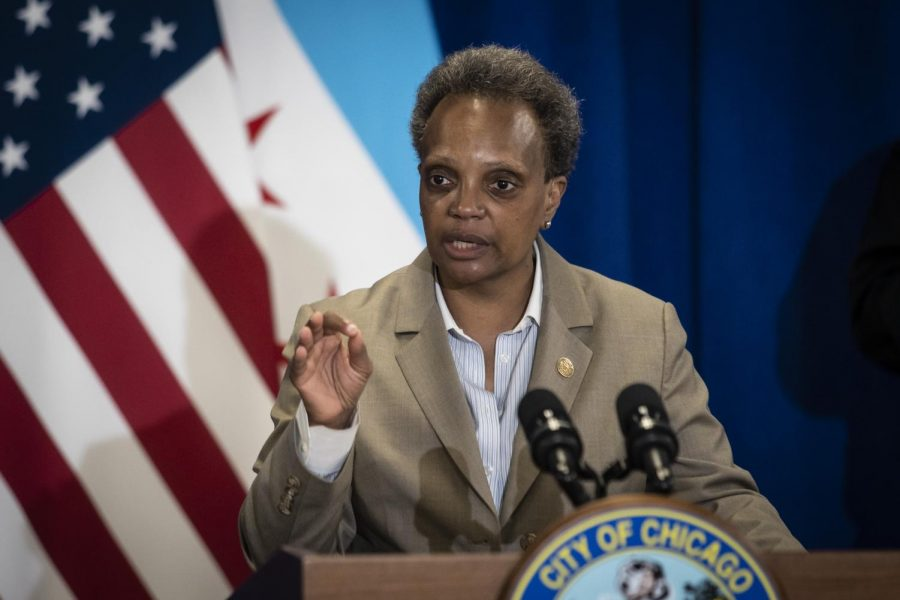 During a June 10 press conference, Mayor Lori Lightfoot said more than 300,000 people in Chicago did not receive a federal stimulus check, many of whom were undocumented, from mixed-status families or dependent adults.