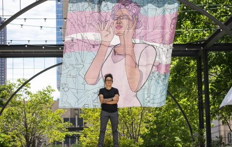 Sam Kirk, a 2005 Columbia alumna, first had this mural exhibited as a part of a Pride installation in New York.