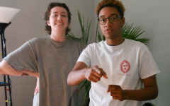 Comedy Majors Eryn Burnett (left) and Nathan Hatfield (right) host a fundraiser livestream to raise money and support for Brave Space Alliance's Trans Relief Fund to provide economic relief payments for transgender, non-binary and intersex individuals.