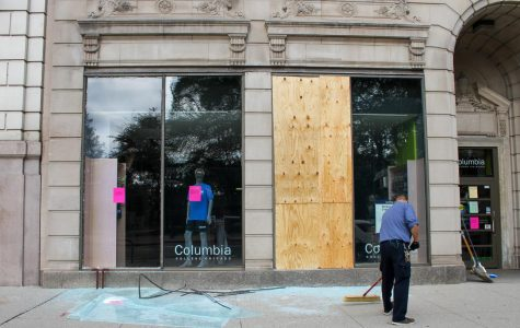 Campus closed following night of looting and violence downtown