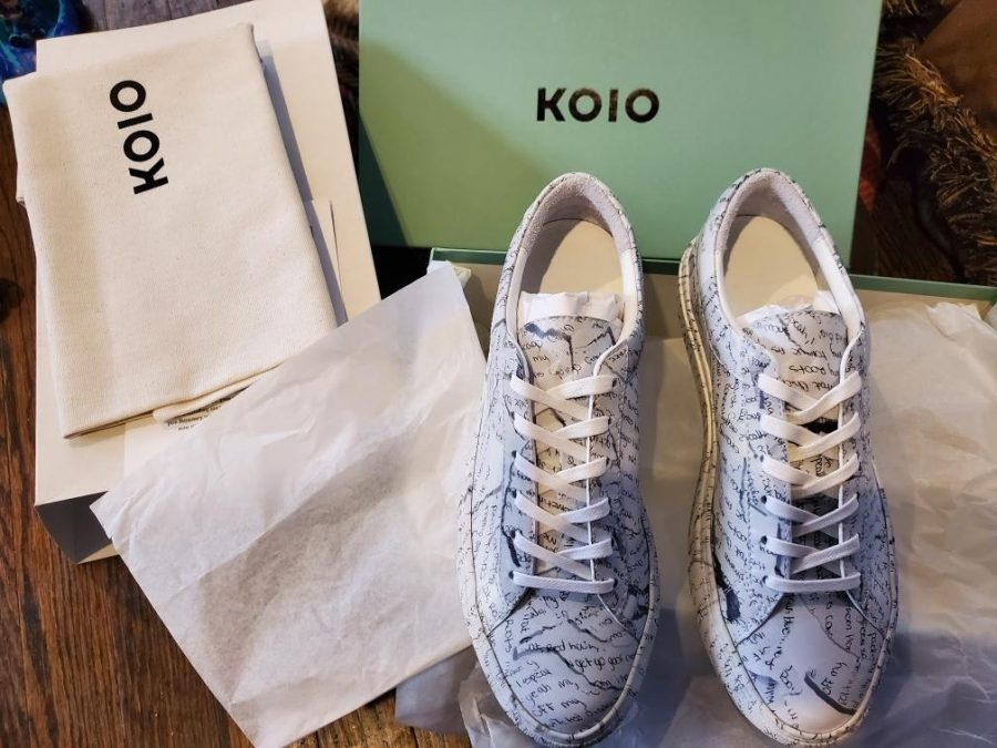 Creative writing major Taisaun Levi collaborated with luxury sneaker brand Koio for a project with her own poem printed on the shoes.