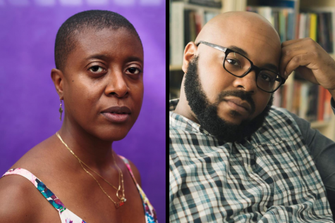 Krista Franklin (left) and Nate Marshall (right) discussed the nature of publishing work during the pandemic at a virtual lecture for the Chicago Humanities Festival.