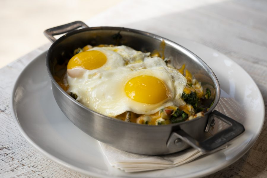 The restaurant's large selection of skillets are a favorite for patrons who prefer a savory breakfast.