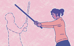 Stage combat students struggle to do battle from across the internet