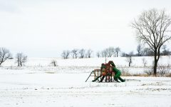 A deserted playground on Wagner's Vineyard Trail in Sun Prairie, Wisconsin, is blanketed in snow on Jan. 16.