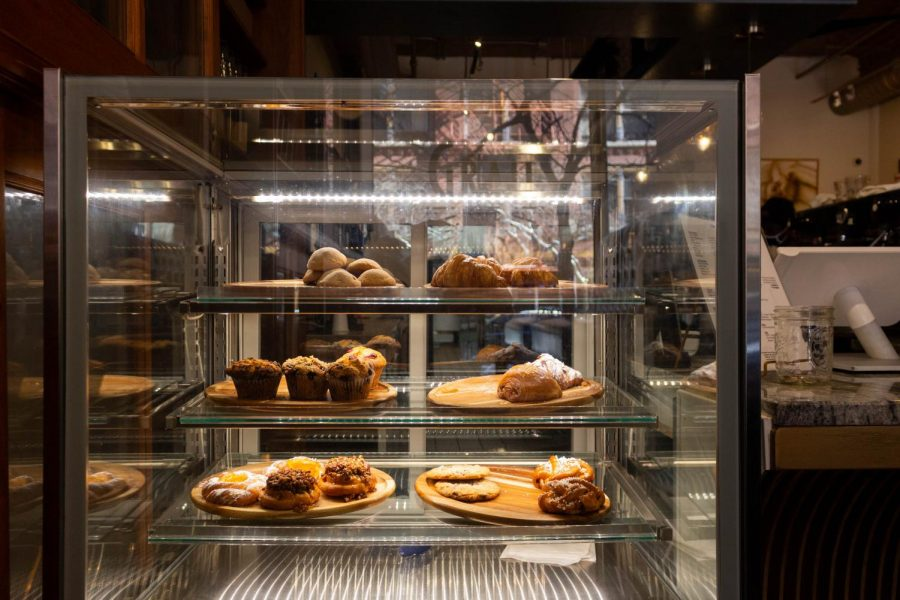The bright pastry display is the first thing that welcomes customers as they enter Grail Cafe.