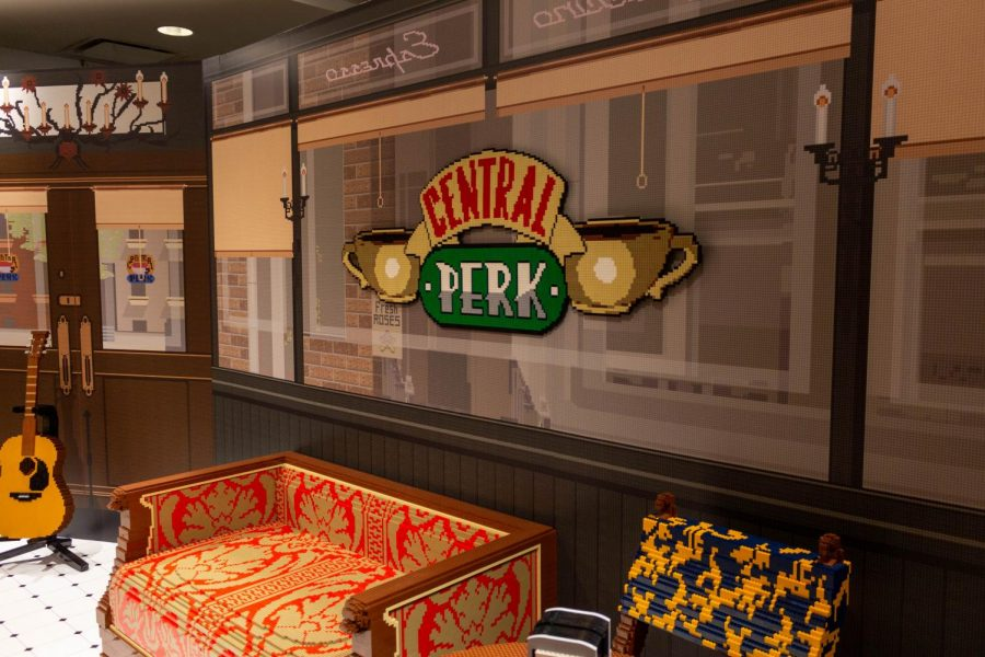 The first of the 12 rooms in the Friends Experience is a recreation of Central Perk, the frequent hangout spot in the show, completely made out of Legos.