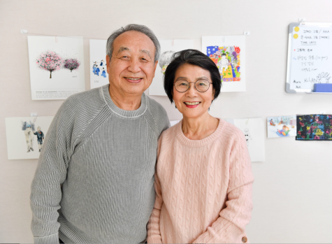 Chan Jae Lee (left) and Kyong Ja Ahn started a TikTok account, which has improved the quality of their lives and connected them with their grandchildren. Photo courtesy of Ji Lee.