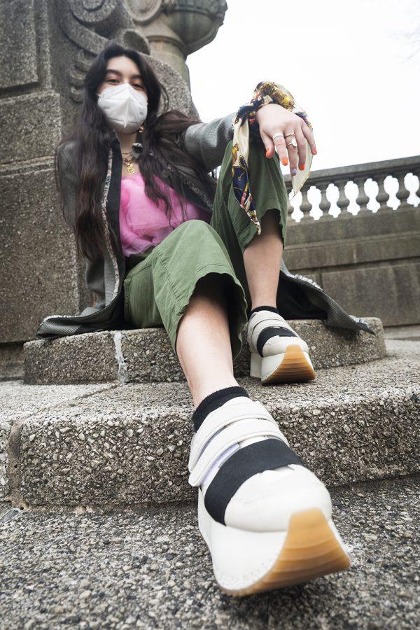 """I really love [platform shoes] because they make me feel really powerful, said Ariana Kanaya, a junior acting major."