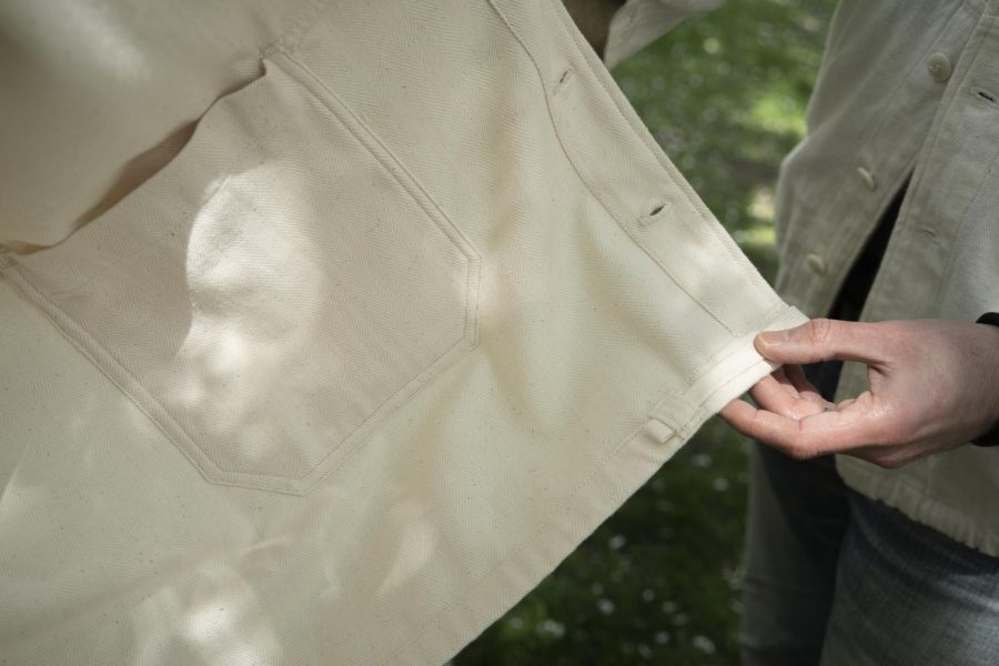 The All We Remember clothing line was designed with accessibility and comfort in mind. Pockets on the inside and outside of the jacket are large enough to hold phones and wallets while a drawstring at the waist allows the jacket to conform to different body types.
