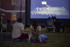 Columbia students, alumni, teachers and staff in the Dance program meet at Austin Town Hall Park, 5610 W. Lake St., for a screening of two of Netta Yerushalmy's