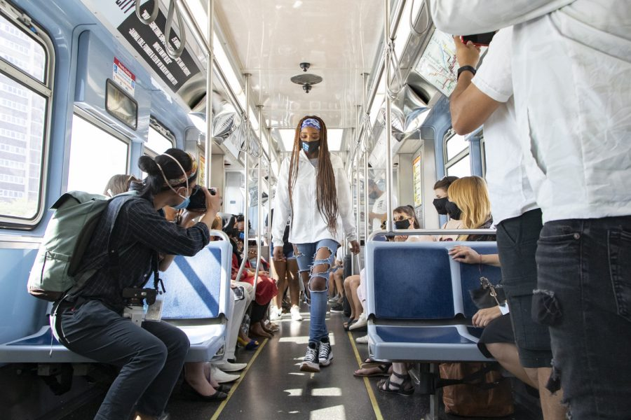 My Block, My Hood, My City models used the CTA Red Line train as their runway.