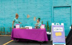 Alina and Joanna Brown serve pastries and baked goods from their business, Scrumptious.