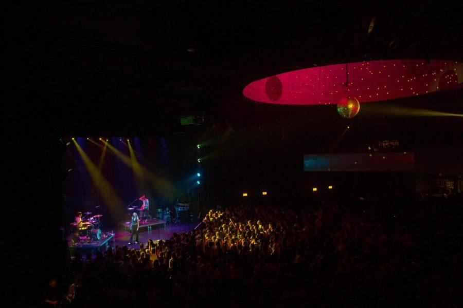 Park West's signature disco ball illuminates the theater as Olivia O'Brien performs.
