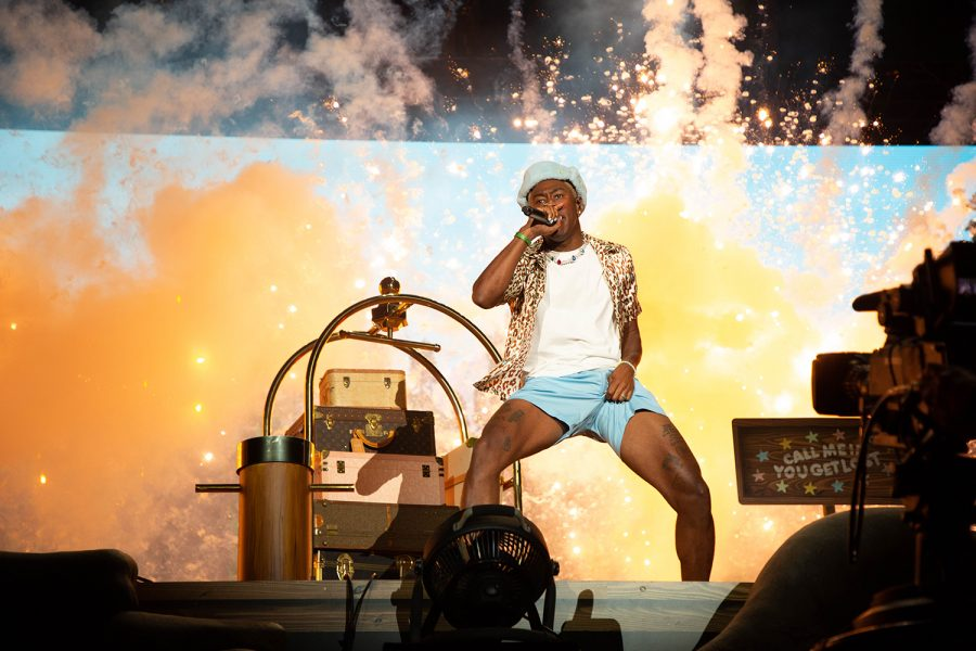 Tyler, the Creator lights up the stage.