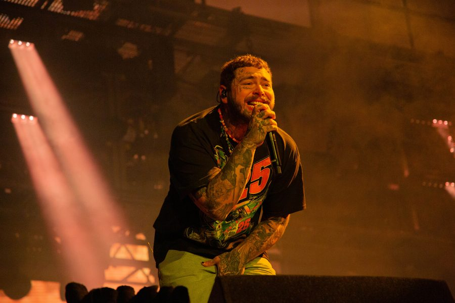"""Post Malone performs his hit ballad """"Better Now."""""""