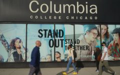 Students walk by Columbias 600 S. Michigan Ave., home of the campus Office of the Registrar, which initiated a new academic scheduling model.