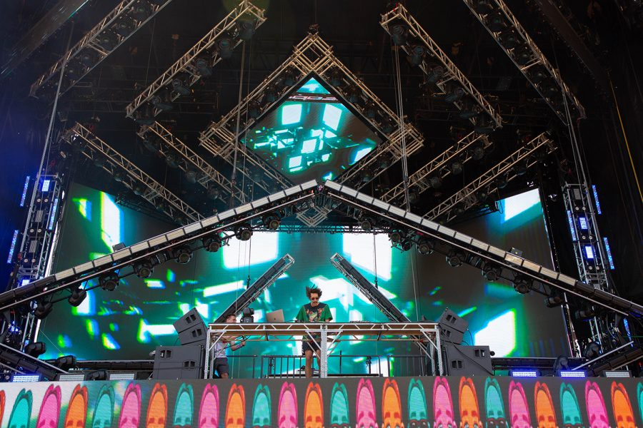 Kooze performs a DJ set at Lollapalooza July 31 on the festivals primary venue for EDM artists, the Solana x Perrys Stage.