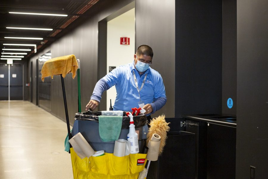 Jose Arroyo has been working as a janitor at Columbia for 13 years.